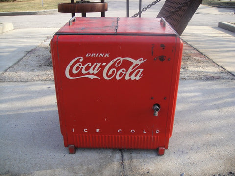 Vintage Coca Cola Ice Chest Cooler (#1079A)
