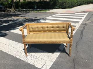 Gold Bench - Vintage Affairs - Vintage By Design LLC