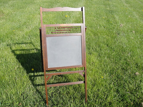 Large Wooden Child's Folding Chalkboard (#1085A) - Vintage Affairs - Vintage By Design LLC