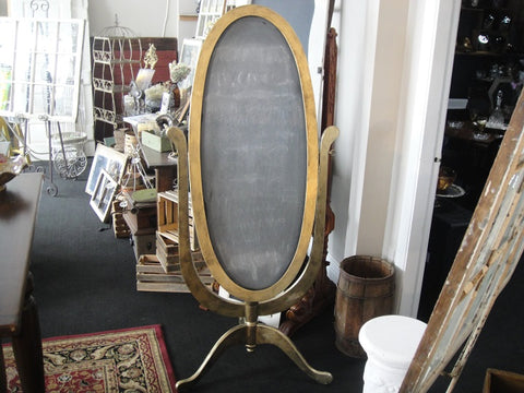 Oval Pedestal Chalkboard (#1086B) - Vintage Affairs - Vintage By Design LLC