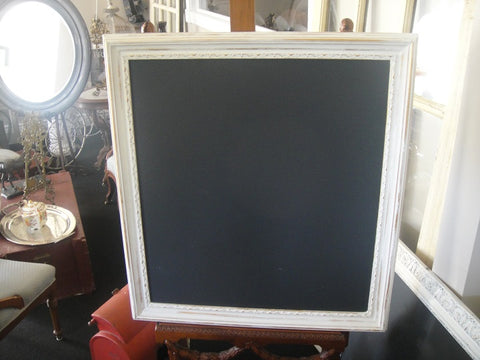 White Framed Chalkboard (#1086E) - Vintage Affairs - Vintage By Design LLC