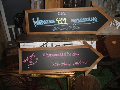 Directional Sign Chalkboards (#1086H) - Vintage Affairs - Vintage By Design LLC