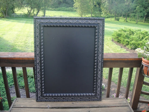 Black Framed Chalkboard (#1086D) - Vintage Affairs - Vintage By Design LLC
