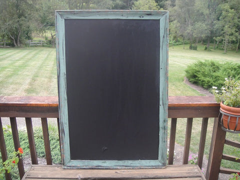 Large Shabby Chic Celadon Chalkboard (#1086N) - Vintage Affairs - Vintage By Design LLC