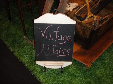 White Primitive Chalkboard (#1086) - Vintage Affairs - Vintage By Design LLC