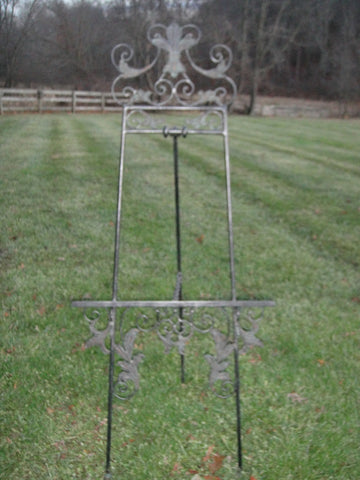 Maitland Smith Large Iron Easel (#1087C) - Vintage Affairs - Vintage By Design LLC