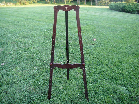 Mahogany Fully Adjustable Floor Easel (#1089C) - Vintage Affairs - Vintage By Design LLC