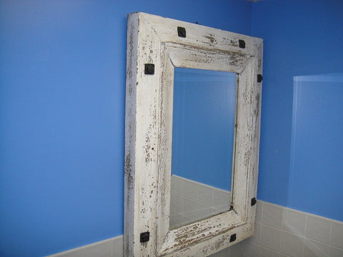 Shabby Chic White Mirror - Vintage Affairs - Vintage By Design LLC