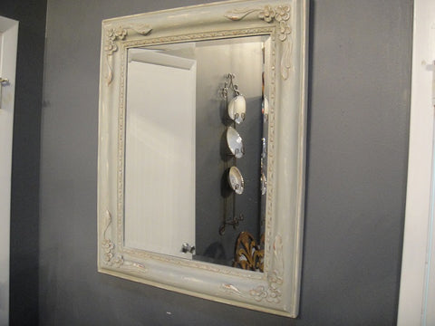Light French Blue Mirror - Vintage Affairs - Vintage By Design LLC