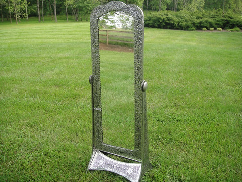 Embossed Tin Victorian 5ft. Tall Parlor Mirror (#1091G)