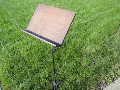 Wooden Music Stand (#1093) - Vintage Affairs - Vintage By Design LLC