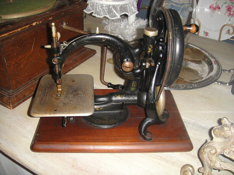 Antique Sewing Machine (#1095) - Vintage Affairs - Vintage By Design LLC