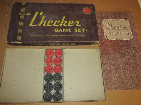 Vintage Checkers Set (#1109A) - Vintage Affairs - Vintage By Design LLC