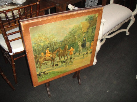 Decorative Equestrian Fire Stand/Table (#1115B)