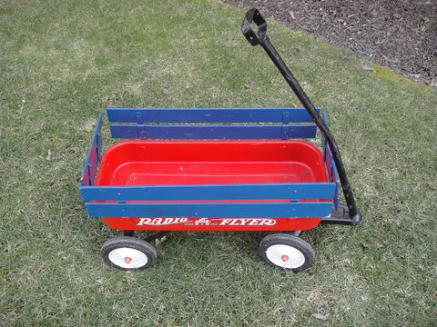 Radio Flyer Wagon with Blue Frame - Vintage Affairs - Vintage By Design LLC