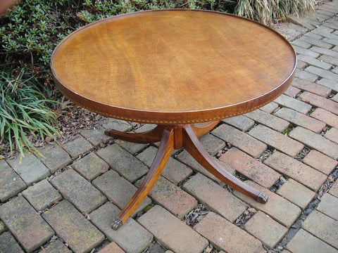 Small Round Mersman Coffee Table (#1134H) - Vintage Affairs - Vintage By Design LLC