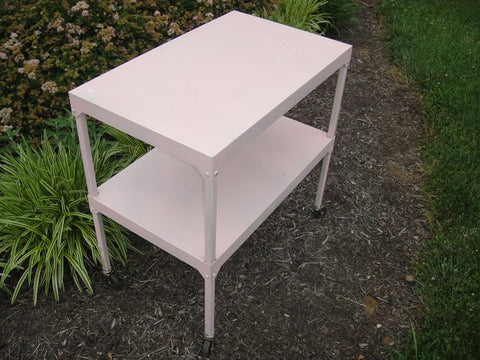 Shabby Chic Pink Metal Cart/Cake Table (#1137C) - Vintage Affairs - Vintage By Design LLC