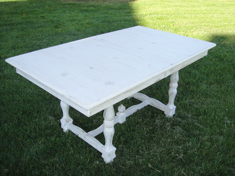 Shabby Chic White Table (#1140) - Vintage Affairs - Vintage By Design LLC