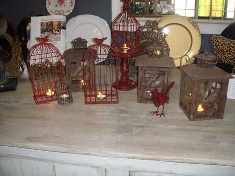 Birdcage Lanterns (#1224A) - Vintage Affairs - Vintage By Design LLC
