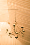 Antique Brown Celian Wrought Iron Chandelier (#1227) - Vintage Affairs - Vintage By Design LLC