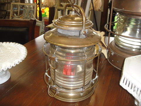 Copper Nautical Lantern (#1230B) - Vintage Affairs - Vintage By Design LLC