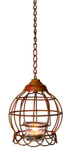 Vintage Industrial Style Hanging Lantern - Vintage Affairs - Vintage By Design LLC