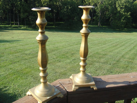 Pair of Brass Candlesticks (#1244)