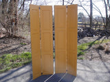 Pair of Yellow Hinged Shutters (2 pairs) (#1324) - Vintage Affairs - Vintage By Design LLC