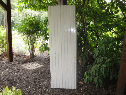 White Panel Barn Door (#1329) - Vintage Affairs - Vintage By Design LLC