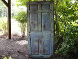 Six Panel Chippy Blue-Celadon Door (#1337) - Vintage Affairs - Vintage By Design LLC