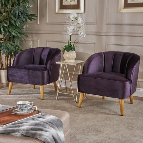 Amaia Modern Velvet Club Chair - Vintage Affairs - Vintage By Design LLC