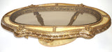 Italian Rococo Oval Coffee Table w/Bronzed Glass Top (#1134G) - Vintage Affairs - Vintage By Design LLC