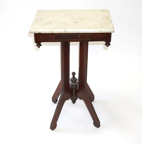 Marble Top Side Table (#1129C) - Vintage Affairs - Vintage By Design LLC