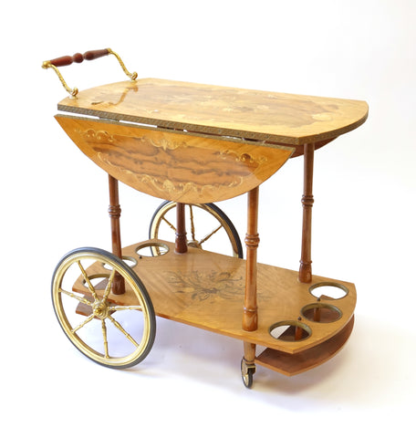 Painted Wine Cart - Vintage Affairs - Vintage By Design LLC