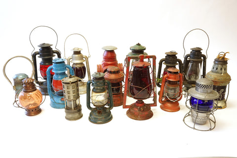 Assorted Railroad Lanterns - Vintage Affairs - Vintage By Design LLC