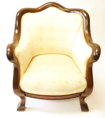 Cream Art Deco Parlor Chairs (#1145F) - Vintage Affairs - Vintage By Design LLC