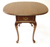 Dark Cherry Pembroke Table (#1150A) - Vintage Affairs - Vintage By Design LLC