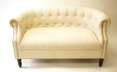 White Love Seats (#1145B) - Vintage Affairs - Vintage By Design LLC