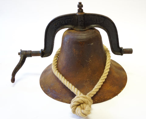 Old Schoolhouse Bell circa 1884 - Vintage Affairs - Vintage By Design LLC
