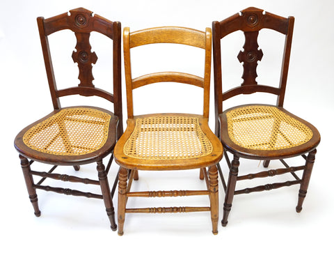 Eastlake Cane Chairs (#1162C) - Vintage Affairs - Vintage By Design LLC