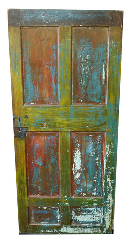 Six Panel Color Splash Door (#1343) - Vintage Affairs - Vintage By Design LLC