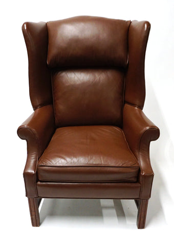 Brown Leather Chair - Vintage Affairs - Vintage By Design LLC