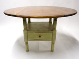 Shabby Chic Green Collapsible Table - Vintage Affairs - Vintage By Design LLC