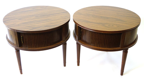 Circular Side Tables - Vintage Affairs - Vintage By Design LLC