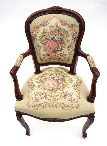 French Needlepoint Maid of Honor Chairs (#1173D)