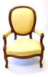 Pair of Yellow Victorian Parlour Chairs (#1158C) - Vintage Affairs - Vintage By Design LLC