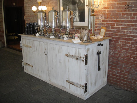 Whitewashed Barn Wood Bar (#1016A) - Vintage Affairs - Vintage By Design LLC