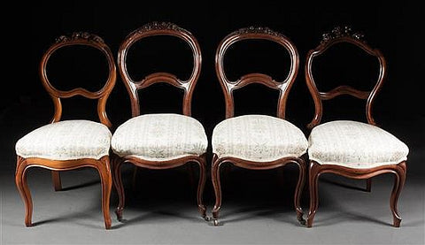 Victorian Balloon-Back Side Chairs (#1148) - Vintage Affairs - Vintage By Design LLC