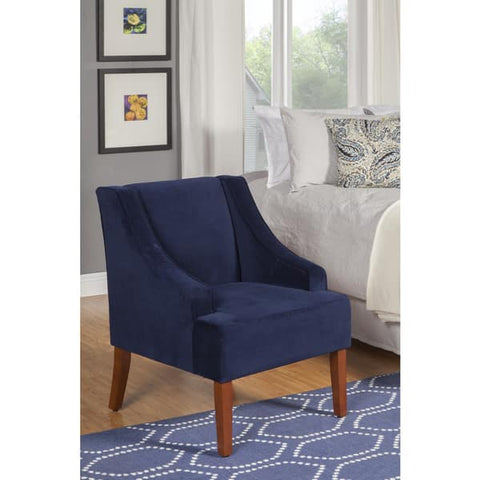 Ink Navy Swoop Arm Velvet Accent Chair - Vintage Affairs - Vintage By Design LLC