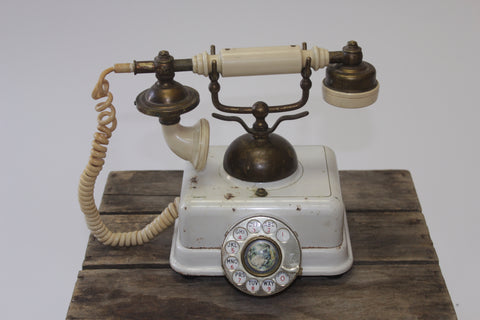 Vintage French Continental Telephone - Vintage Affairs - Vintage By Design LLC